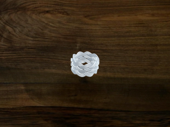 Turk's Head Knot Ring 5 Part X 9 Bight - Size 7 3d printed