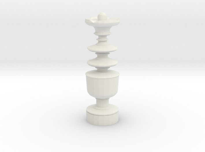 Smaller Staunton King Chesspiece 3d printed