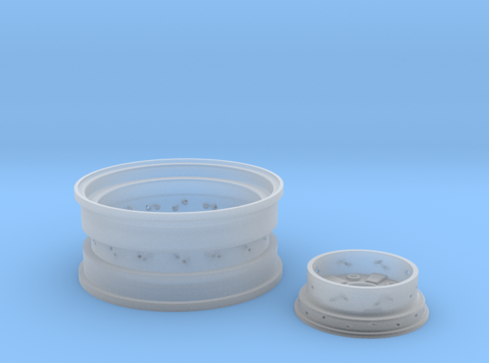 1/8 Rear Wire Wheel (rim/hub) for 1/8 Revell Deuce 3d printed