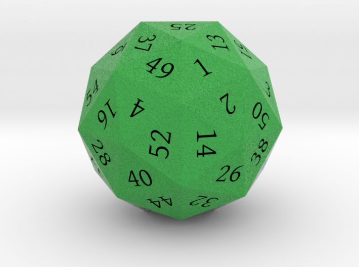 Kelly Green d60 3d printed