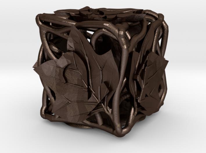 Botanical Die6 (Tulip Tree) 3d printed In stainless steel