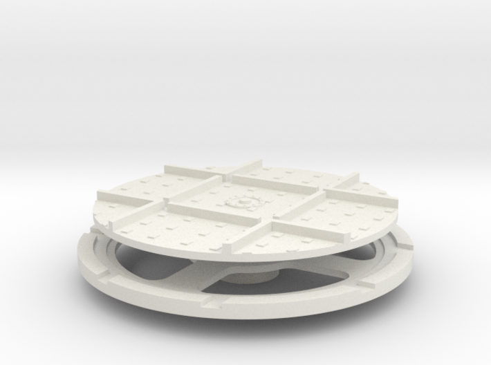 On16 wagon turntable 43mm diameter 3d printed