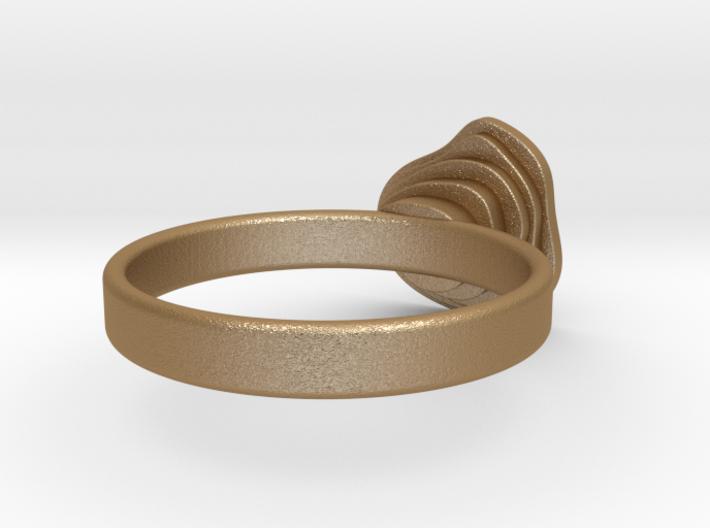 Gold Mine ring - UK N (inside diameter 17.2mm) 3d printed