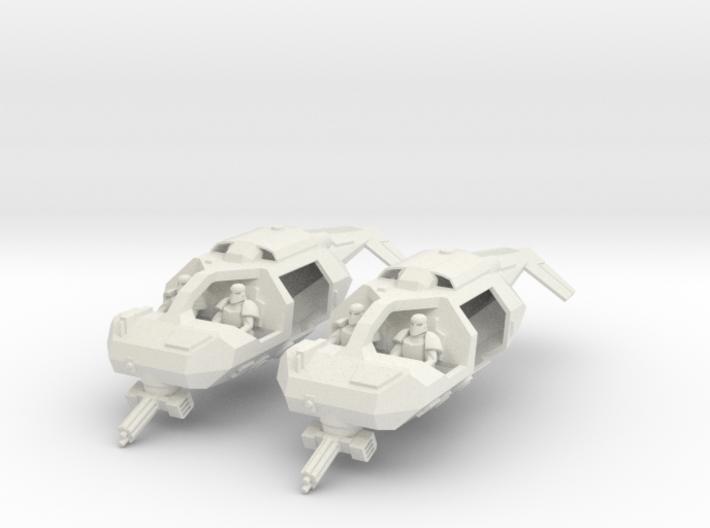 15mm Legionary Speeders (x2) 3d printed