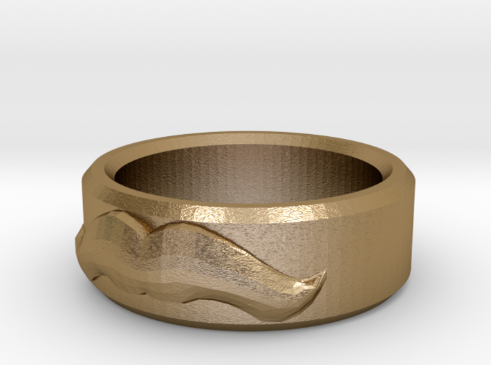 Moustache Ring - Size 12 3d printed
