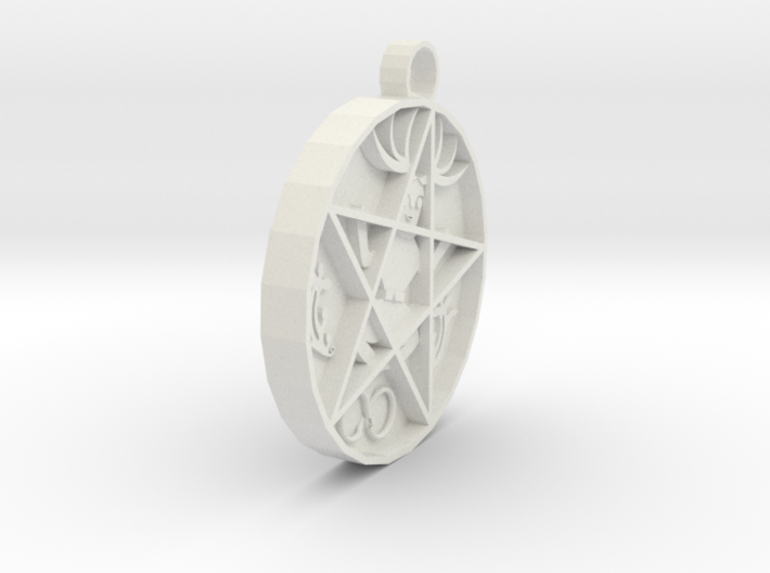hex pendant agn 3d printed