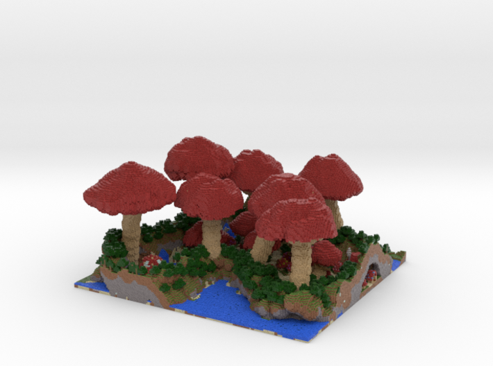 Mushroom Village - Small 0.5 mm 3d printed