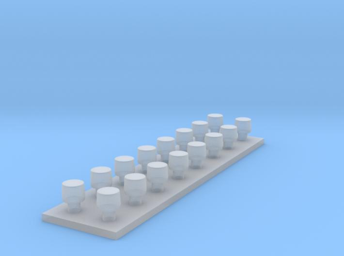 LED flitslamp 1:87 diam 3,0 mm x hoog 2,3 mm 3d printed