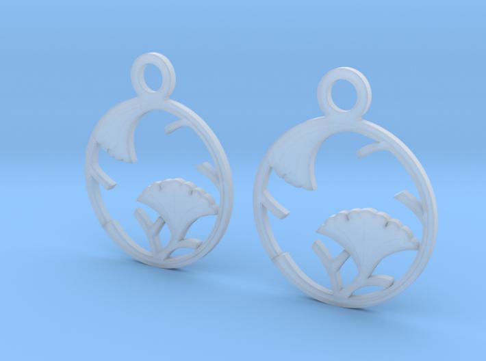 Japanese Crest Earrings 3d printed