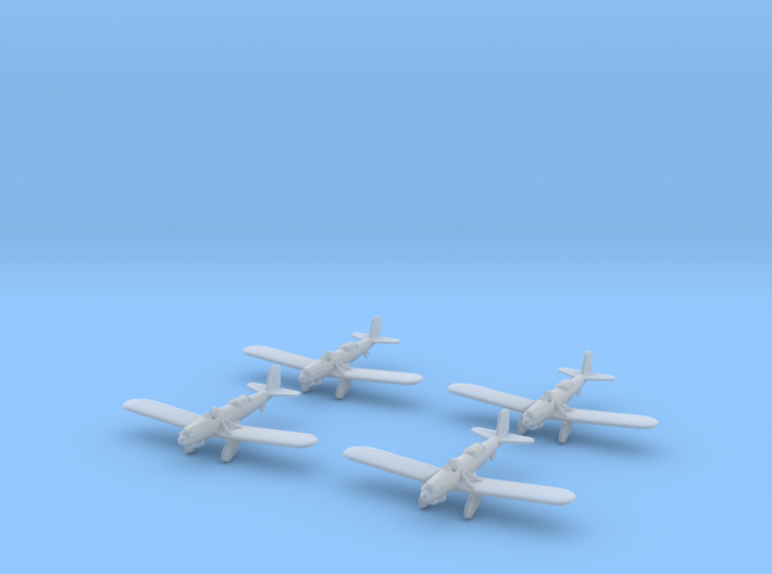 1/285 Curtiss A-8 Shrike (x4) 3d printed