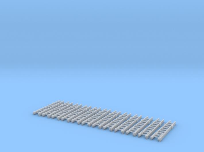Steckleiter Teil B Fussteil Alu 2übereinanader Set 3d printed
