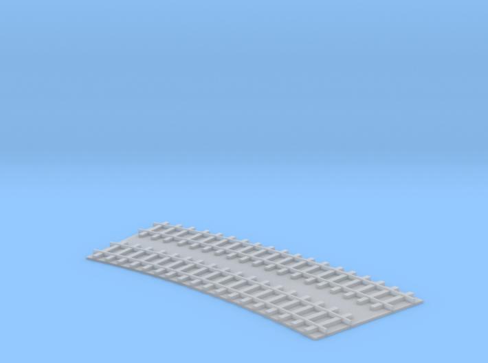 Curved Double Track / gebogenes Doppelgleis 1/285  3d printed