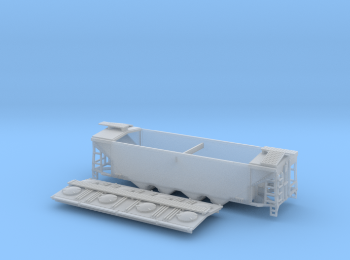 U8 TT Scale (1:120) with Roofwalk 3d printed