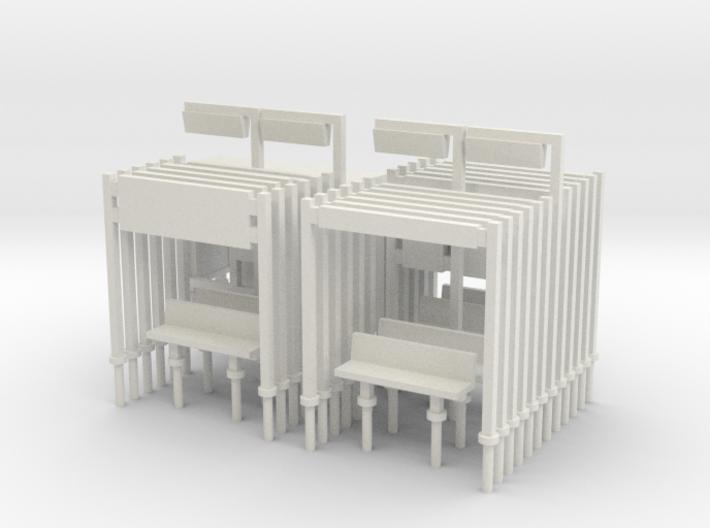 Modern Railway Station Furniture 1:148 N Gauge 3d printed