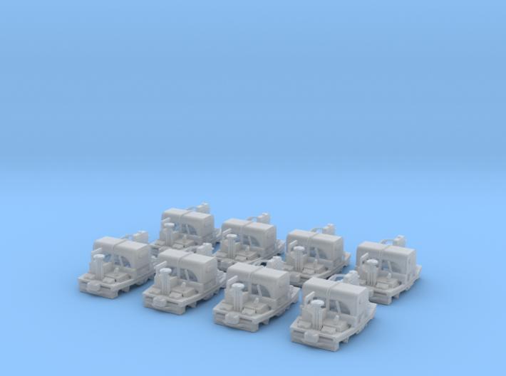 Nn3 scale 20HP WD Simplex Rail Tractor (x8) 3d printed