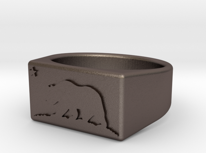 Ring of the bear flag republic size 10 3d printed