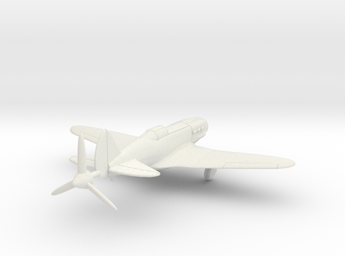 1/144 Soviet MiG-3 wheels down 3d printed