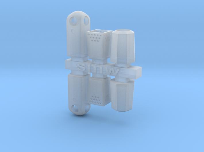 Street trash bin H0/00 gauge (6 pcs set) 3d printed