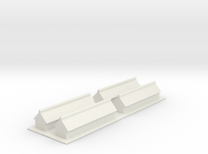 1/700 Missile Construction Buildings (x4) 3d printed