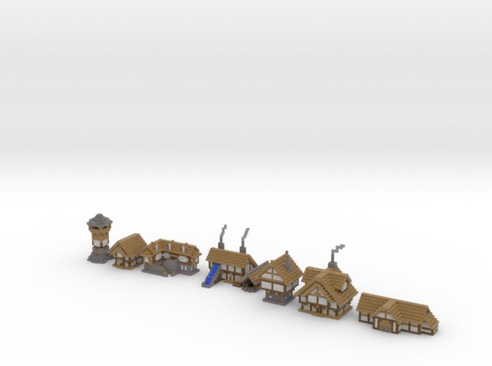 Medieval Buildings 3 3d printed