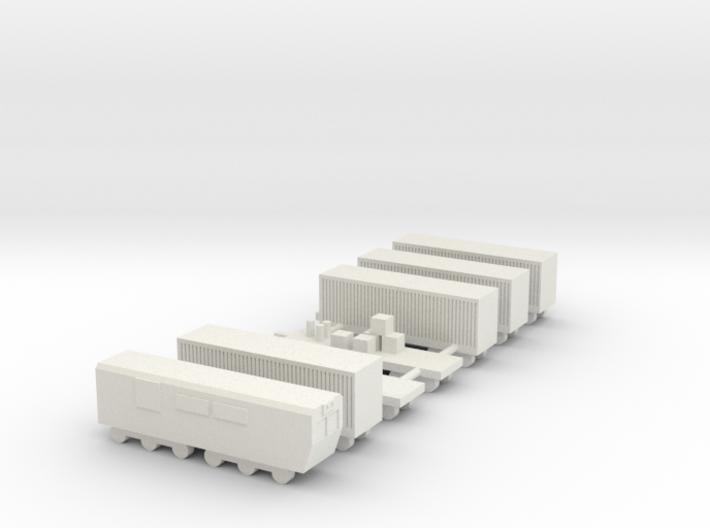 1/700 Goods Cargo Train Set 3d printed