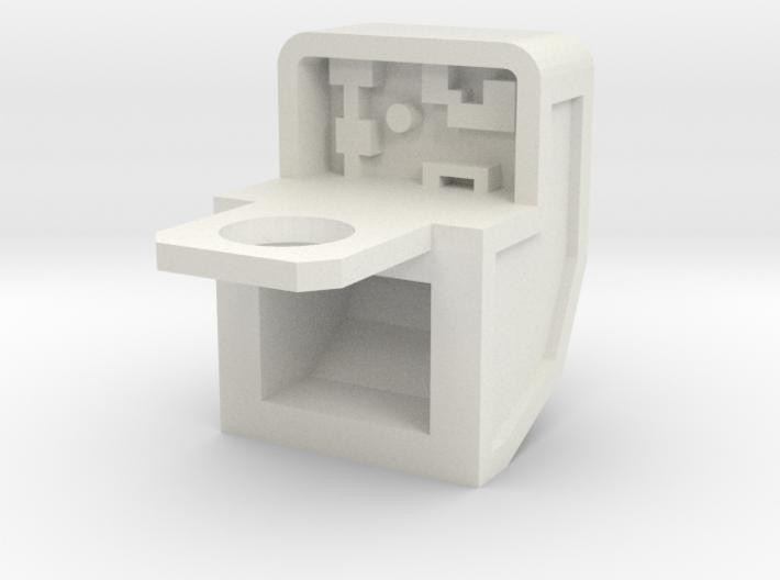 Robo Backpack: Mini-hood w/neck ring 3d printed