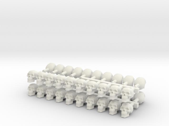 40 skulls high res 3d printed