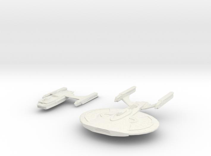 Archer Class Battleship In 2 parts 3d printed