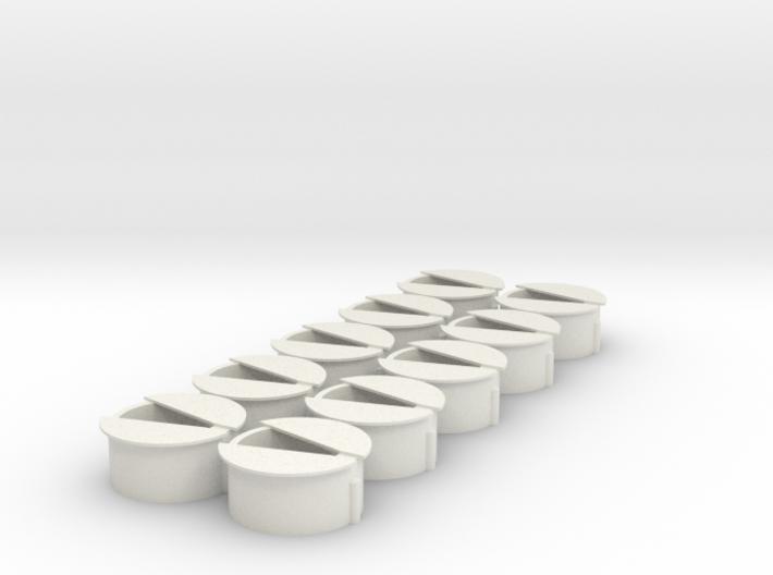 10 Wisseldeksels type 2 3d printed