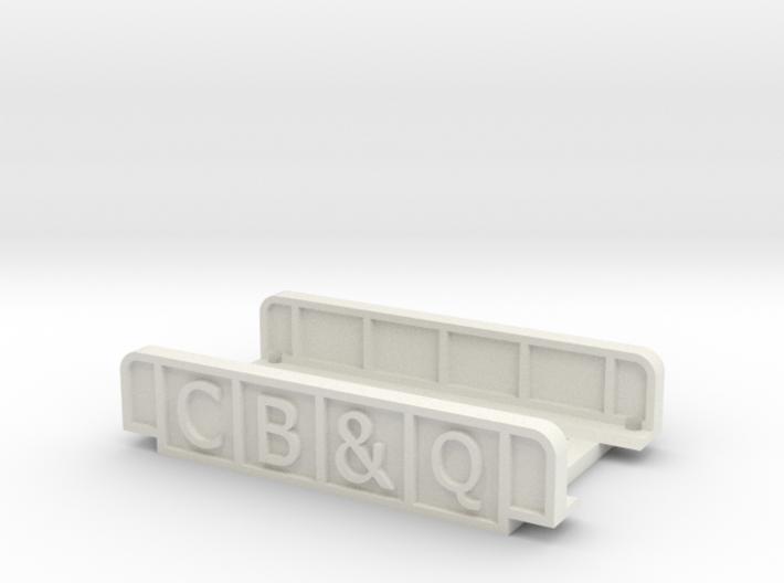 CB&Q 55mm SINGLE TRACK 3d printed