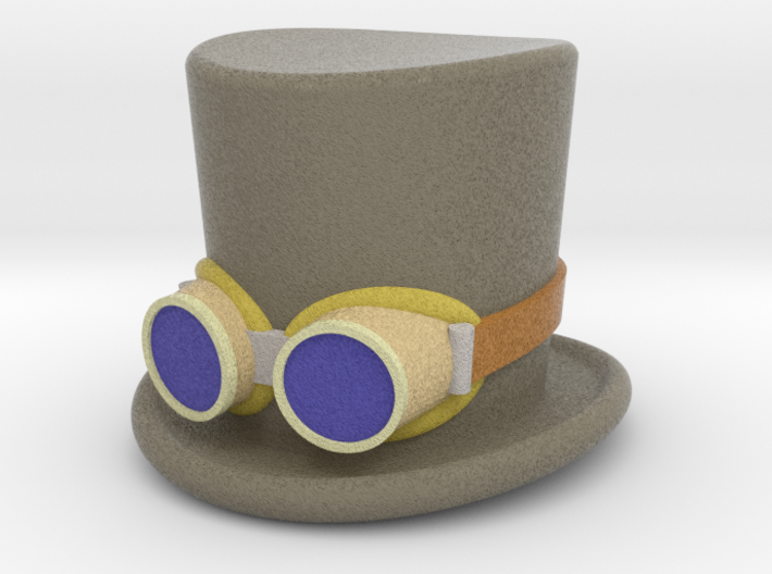 5cm D & R - Top Hat & Goggles - coloured 3d printed