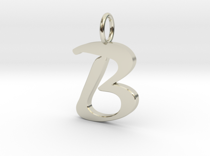 Classic script initial pendant letter b jdefzkk5d by classic script initial pendant letter b 3d printed aloadofball Image collections