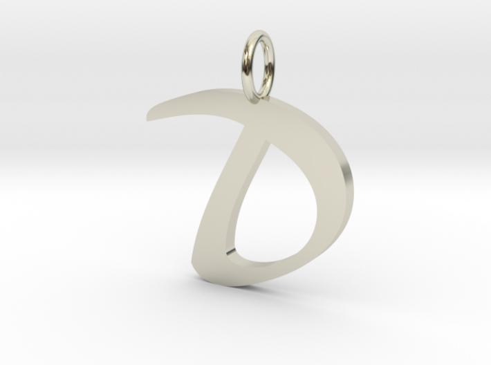 classic script initial pendant letter d 6r4zh2bpz by