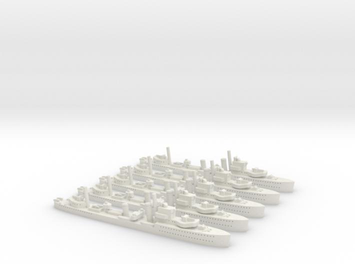HMCS Saguenay (I79) Post Refit (River Class) 1/180 3d printed