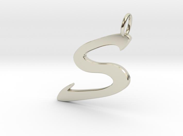 S Classic Script Initial Pendant Letter 3d printed