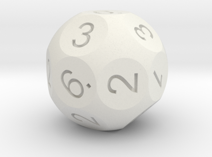 D18 numbered like a D6 3d printed