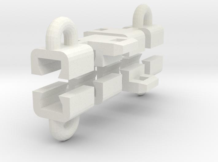 Rail Mtd Loops Side 3d printed