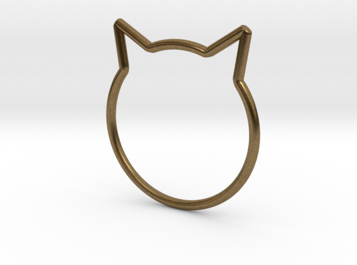 "Cat Ear Ring ""Büsi"" 3d printed"
