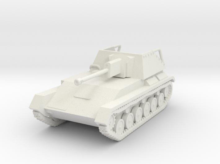 Vehicle- SU-76M Self-Propelled Gun (1/87th) 3d printed