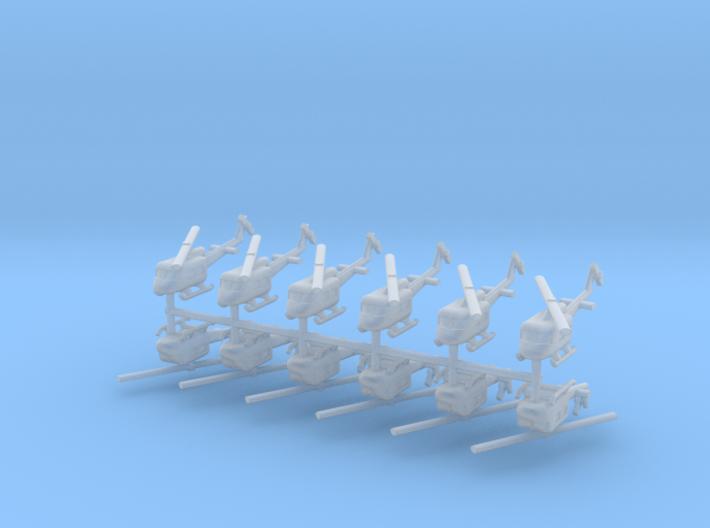 1/600 UH-1 Huey (x12) 3d printed
