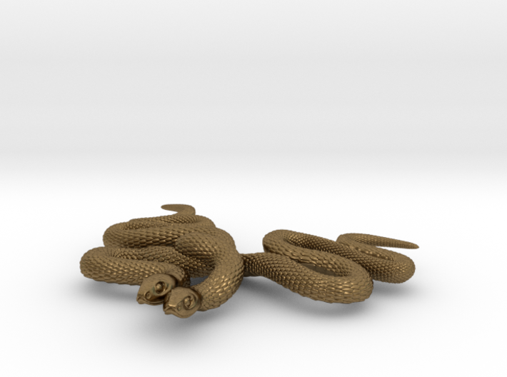 Embraced Snakes Pendant 3d printed