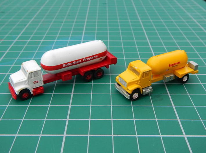 Propane Truck Bodies 3d printed bodies mounted on trucks.