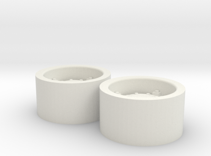 1:64 scale Wheels for 18.4-30 tires 3d printed