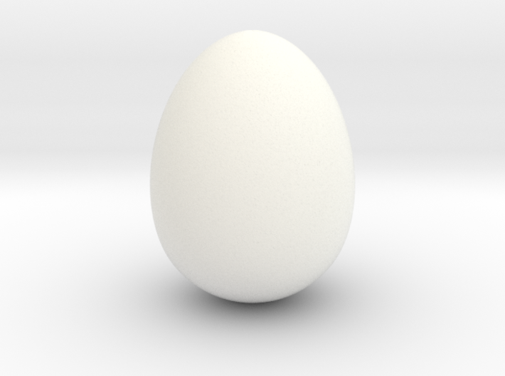 Cow bird egg smooth 3d printed