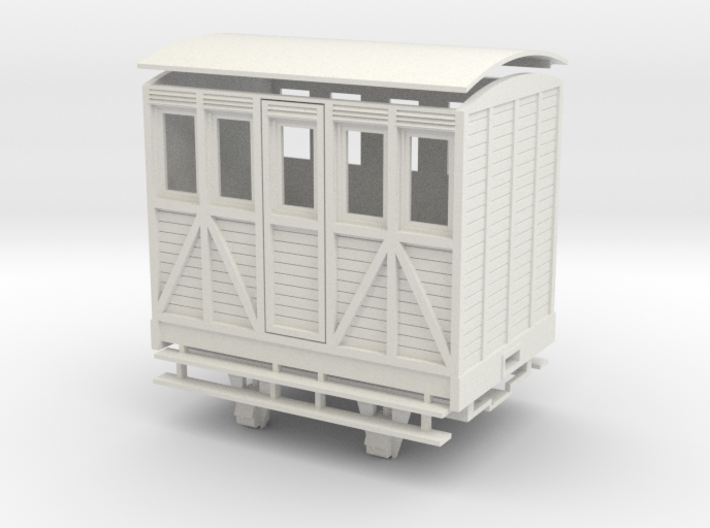 """On16.5 1 compartment """"woody"""" coach 3d printed"""