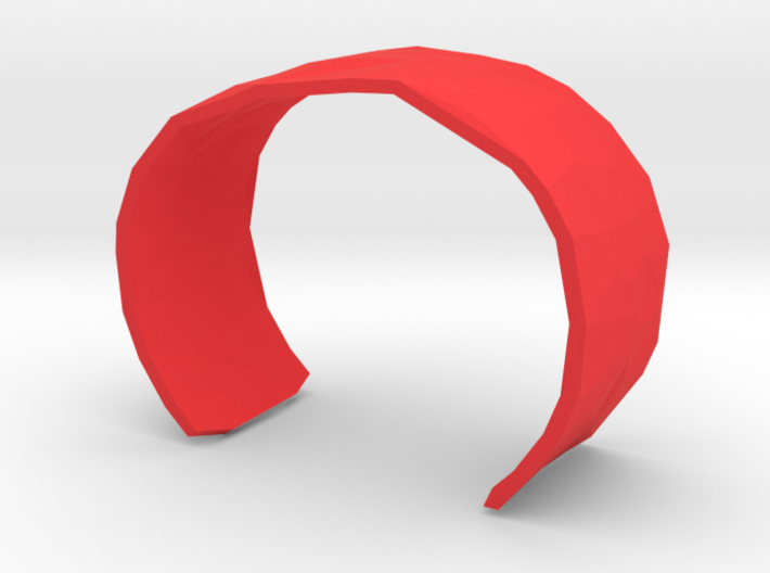 Cell Cuff Faceted (48mm Inner Radius) 3d printed