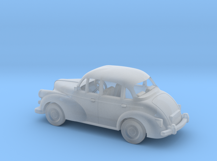 Morris Minor at 1:76 Scale 3d printed