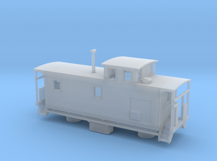 DMIR K1 Steelside Caboose Late - Zscale 3d printed