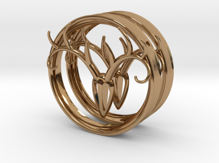 3 Inch Antler Tunnels 3d printed