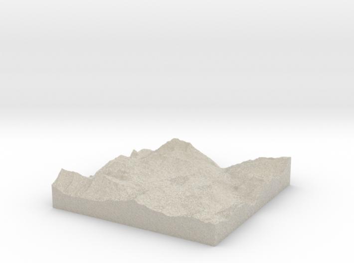Model of Val Claret 3d printed